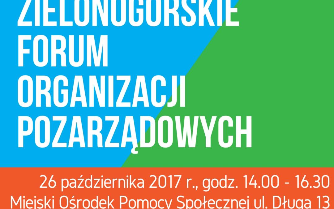 Zielonogórskie Forum Organizacji Pozarządowych 2017