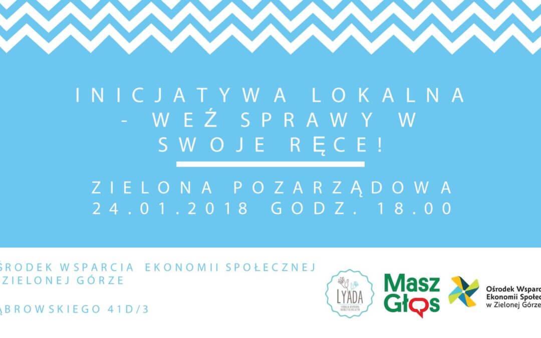 Inicjatywa lokalna – warsztat praktyczny 24 stycznia