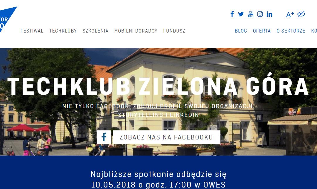 TechKlub Zielona Góra o storytellingu i LinkedIn w OWES-ie
