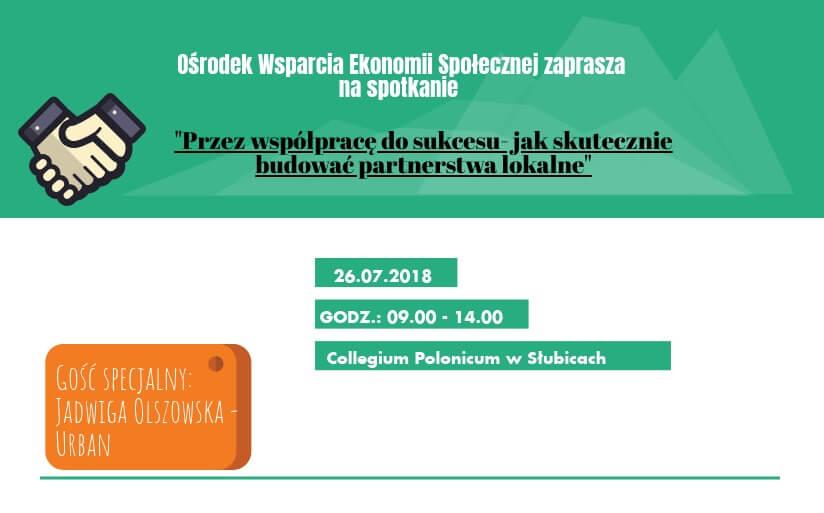"""Spotkanie w Słubicach: """"Przez współpracę do sukcesu – jak skutecznie budować partnerstwa lokalne"""""""