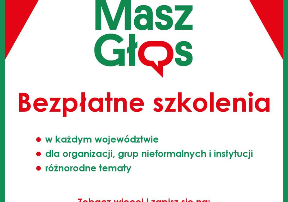 """Szkolenie wojewódzkie w ramach akcji """"Masz Głos"""""""
