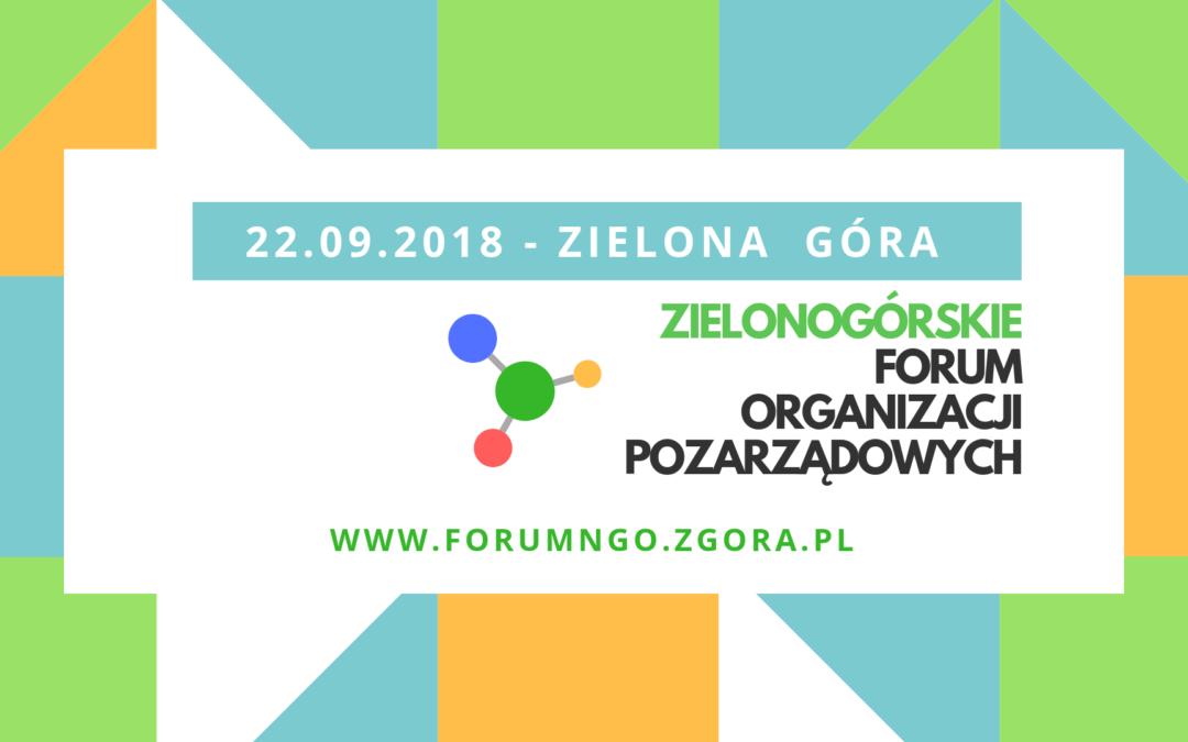 Zielonogórskie Forum Organizacji Pozarządowych 2018