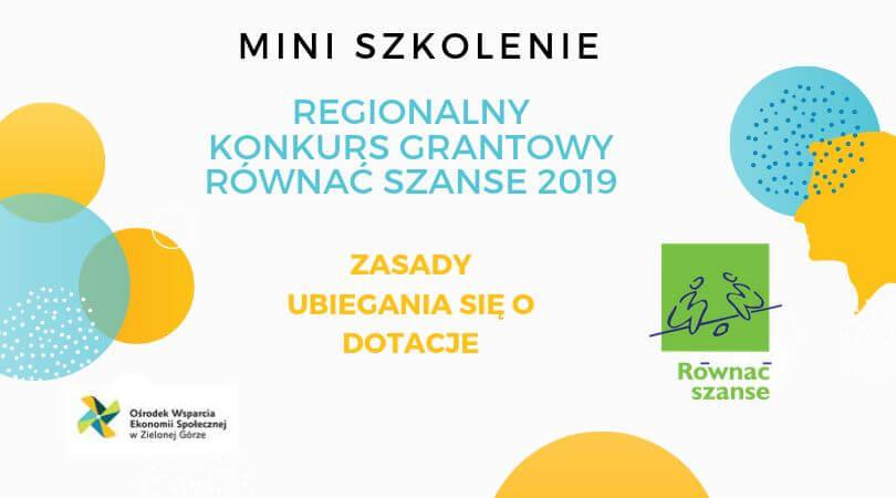 Regionalny Konkurs Grantowy Równać Szanse 2019