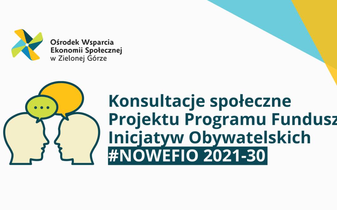 Konsultacje Programu Fundusz Inicjatyw Obywatelskich na lata 2021-30